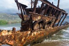 Det rostiga fartyget Arkivbild