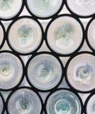 Det runda blyade fönstret förser med rutor Royaltyfri Bild