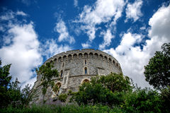 Det runda tornet på den Windsor slotten i Berkshire Fotografering för Bildbyråer