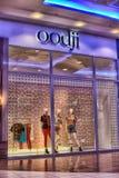 Det Ryssland St Petersburg 09,03,2015 Oodji märket shoppar i shoppien Arkivbild