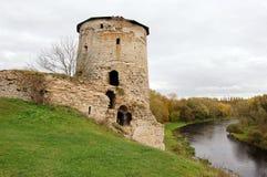 Det rytande tornet är en defensiv struktur på kusterna av fotografering för bildbyråer