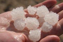 Det salt av det döda havet Arkivfoton