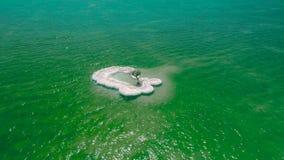 Det salta döda havet ser för att salta utdraget eller taget från det döda havet arkivfilmer