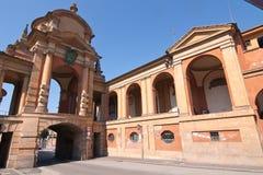 San Luca galleri - Bologna, Italien Royaltyfri Foto