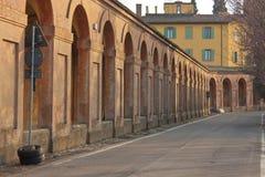 San Luca galleri i bolognaen, Italien Fotografering för Bildbyråer