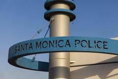 Det Santa Monica Police tecknet, CA på Oktober 03, 2013 Arkivbild