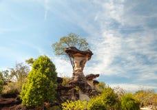 Det SaoChaliang landskapet, att förbluffa som är naturligt av, vaggar Royaltyfri Fotografi