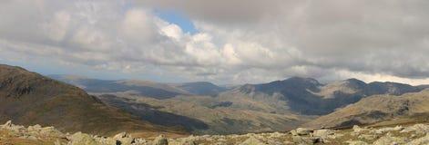 Det Scafell området Cumbria Royaltyfri Fotografi