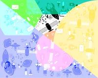Det Sciencs objektet mönstrar dem bakgrund Arkivfoto