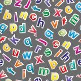 Det seamless alfabetet mönstrar Royaltyfri Fotografi