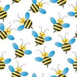 Det seamless biet mönstrar Royaltyfri Foto