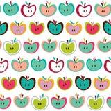 Det gulliga seamless äpplet mönstrar Royaltyfria Foton