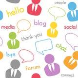 Det Seamless sociala massmedia mönstrar Arkivbild