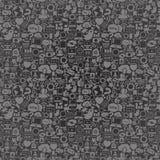 Det Seamless sociala massmedia mönstrar Arkivfoto