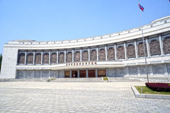 Det segerrika museet för fäderneslandbefrielsekrig i Pyongyang DPRK - Nordkorea Arkivbilder