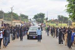 Det sista hemmet av modern av presidenten Laurent Gbagbo Royaltyfria Foton