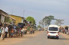 Det sista hemmet av modern av presidenten Laurent Gbagbo royaltyfri bild