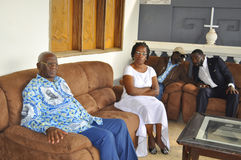 Det sista hemmet av modern av presidenten Laurent Gbagbo Royaltyfria Bilder