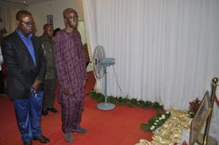 Det sista hemmet av modern av presidenten Laurent Gbagbo Arkivbilder