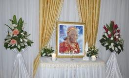 Det sista hemmet av modern av presidenten Laurent Gbagbo arkivbild