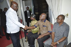 Det sista hemmet av modern av presidenten Laurent Gbagbo Royaltyfri Foto