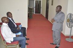 Det sista hemmet av modern av presidenten Laurent Gbagbo royaltyfri fotografi