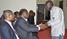 Det sista hemmet av modern av presidenten Laurent Gbagbo arkivfoton