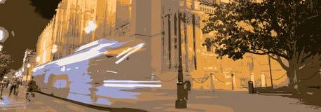 det sista loppet av natten stock illustrationer