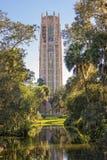 Det sjungande tornet på Bok trädgårdar Fotografering för Bildbyråer
