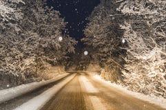 Det snöa för ` s Arkivfoto