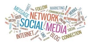 Typografisk illustration för socialt massmedia stock illustrationer
