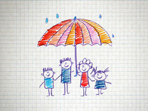 Det sociala skyddet av familjen Fotografering för Bildbyråer