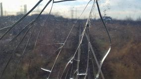 Det spruckna exponeringsglaset broken exponeringsglas abstrakt bakgrund Royaltyfri Foto