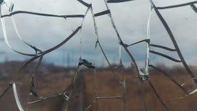Det spruckna exponeringsglaset broken exponeringsglas abstrakt bakgrund Fotografering för Bildbyråer