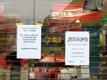 Det stängda Jessops kameralagret besegrar på kickgatan Putney i London Royaltyfri Fotografi