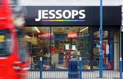 Det stängda Jessops kameralagret besegrar på kickgatan Putney i London Arkivbild