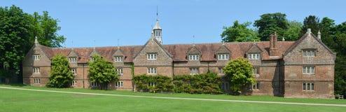 Det stabila byggande Audley sluthuset Essex England Arkivfoto