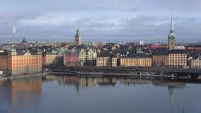 Det stads- landskapet av Stockholm, marsdag sweden lager videofilmer