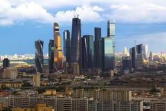 Det stads- landskapet av stora städer och megacities Arkivfoto