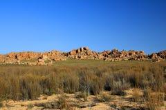 Det Stadsaal grottalandskapet i Cederbergen, Sydafrika Arkivfoto