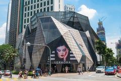 Det Starhill gallerit är en lyxig återförsäljnings- galleria som lokaliseras i det Bukit Bintang shoppingområdet av KL, Malaysia  arkivfoton