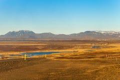 Det steniga steniga öde landskapet av Island Royaltyfri Bild