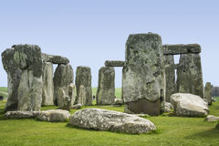 Det Stonehenge anseendet stenar wiltshire England Arkivfoto