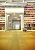 Det stora arkivet med böcker på golvet Royaltyfria Foton