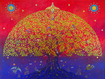 Det stora bodhiträdet Royaltyfria Foton
