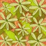 Det stora djärva tropiska bladet och den blom- modellen planlägger Fotografering för Bildbyråer