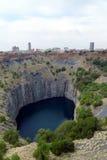 Det stora hålet i Kimberley, Sydafrika Arkivbilder