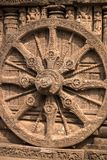 Det stora hjulet av den Konark soltemplet royaltyfria foton