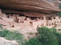 Det stora komplexet av forntida fördärvar på Mesa Verde National Park Arkivfoto