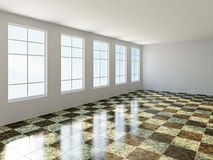 Det stora rummet med fönstret Royaltyfri Fotografi